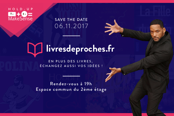 Save the Date pour le Hold-up Make Sense de Livres de Proches